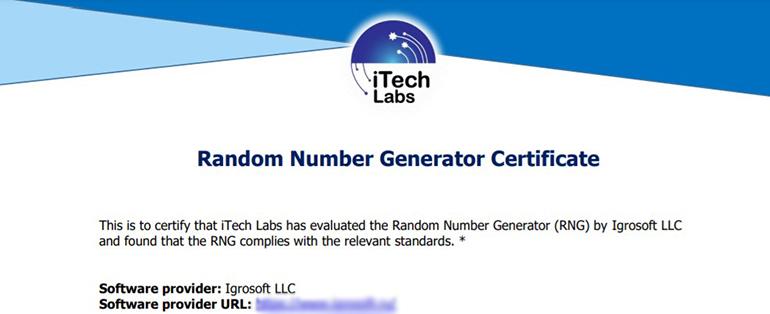 Сертификат iTech Labs